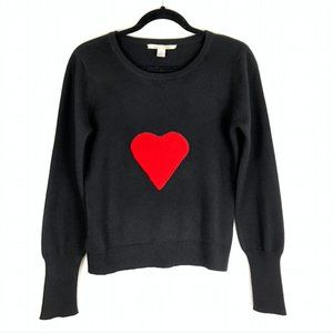 Alice + Olivia Cashmere Red Heart Black Sweater